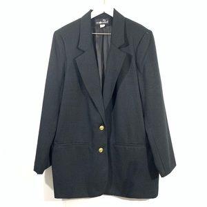 Sag Harbor Vintage Black Oversized Blazer Jacket